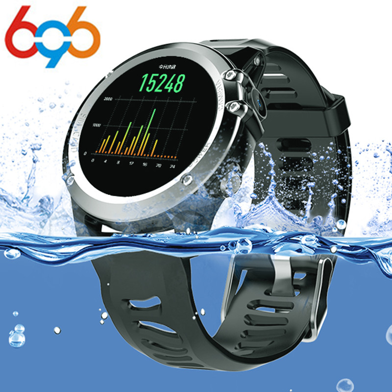 696 H1 MTK6572 IP68 GPS Wifi 3G Camera Smart Watch Waterproof 400*400 Heart Rate Monitor 4GB 512MB For Android IOS цена