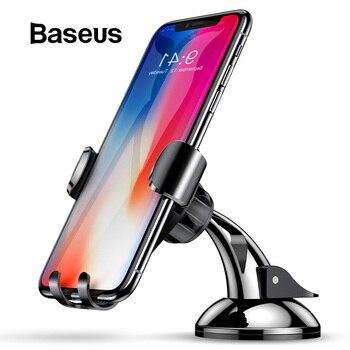 Baseus Evrensel Yerçekimi Araç telefon tutucu Enayi Vantuz cam Araç Tutucu iPhone XS Için X Samsung S9 telefon tutucu Standı