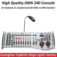 Vendita internazionale standard dmx 240 controller console di controllo moving head led par stage lights attrezzature dj 512 dmx controller