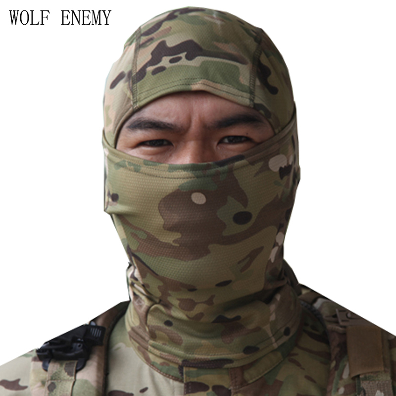 Hot Multicam Tropic Quick-Dry Nijia Balaclava / MTP Full Face Mjuka Skullies & Beanies Jakt Caps