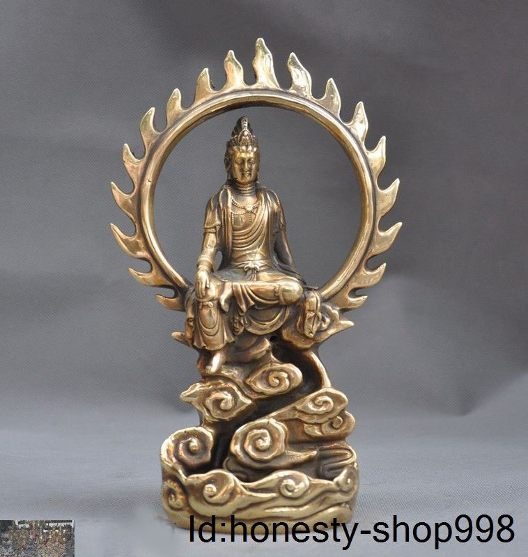 Crafts statue 9Chinese Buddhism temple brass kwan-yin GuanYin Buddha Goddess statueCrafts statue 9Chinese Buddhism temple brass kwan-yin GuanYin Buddha Goddess statue