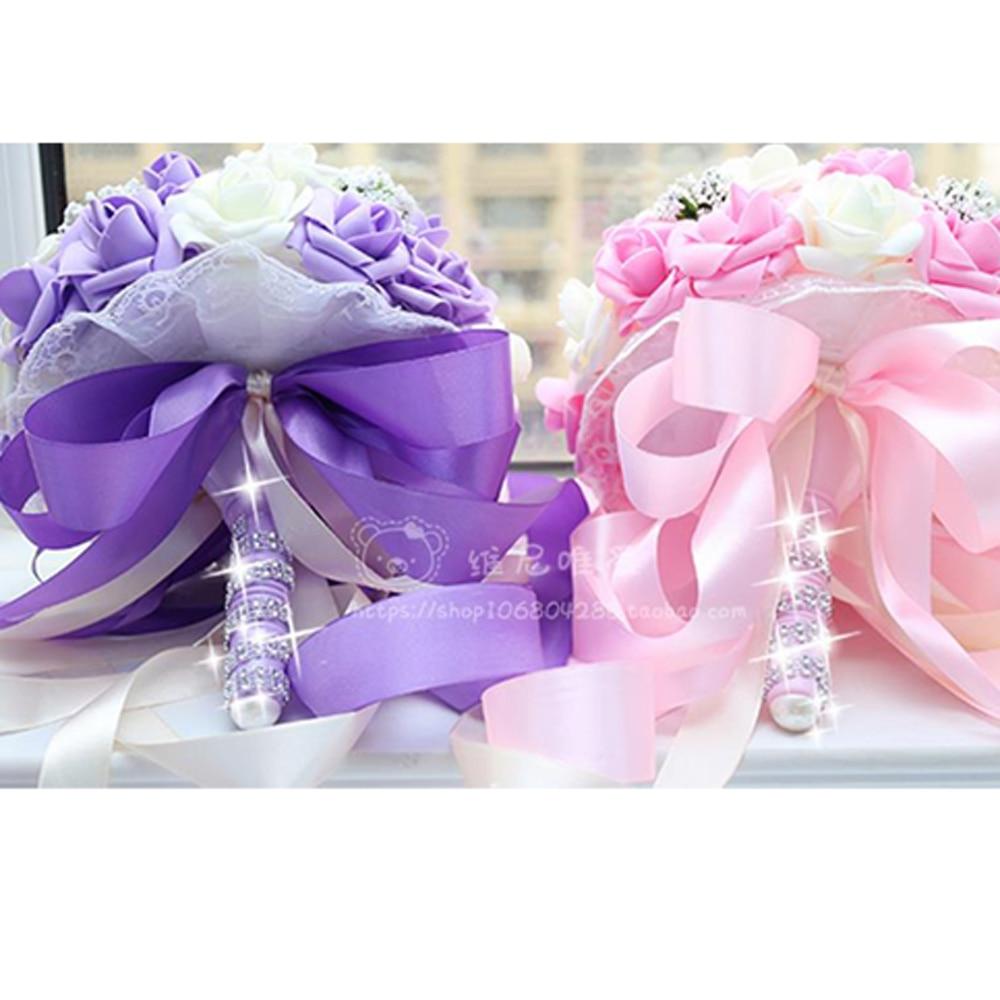 Bridal bouquet Korean wedding wedding supplies simulation Fake ...