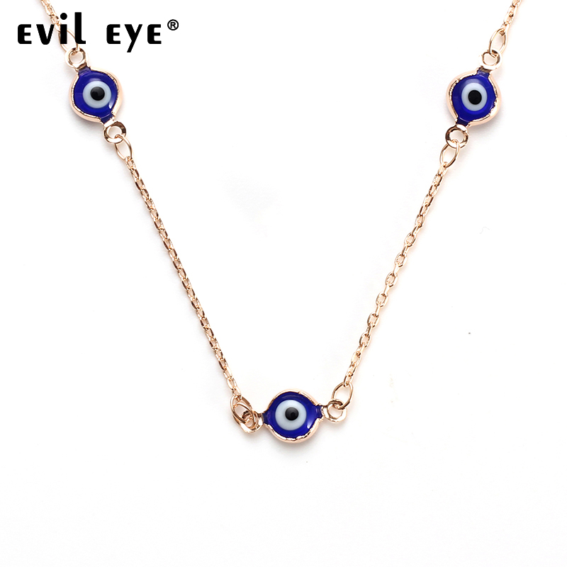 EVIL EYE new fashion 70cm blue evil eye necklace pendant  Stainless Steel eye Necklaces for woman jewelry necklaces gift EY4802