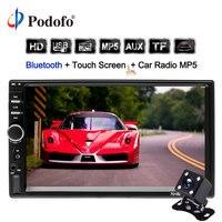 Podofo 2 din Car Radio 7 Autoradio Cassette Recorder 7018B Touch Screen Car Audio Bluetooth USB AUX MP5 7018B multimedia Player