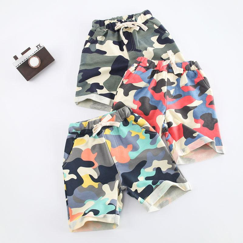 Havoe 2017 Summer Style Baby Boys Shorts Cotton Children Clothing Camouflage Sports Pants For Boys Fashion Casual Kids Shorts Trousers
