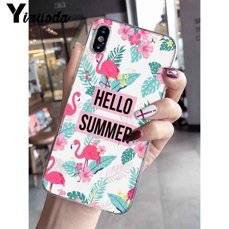 Yinuoda классный летний Мягкий силиконовый прозрачный чехол для телефона iPhone 5 5Sx 6 7 7 plus 8 8 Plus X XS MAX XR