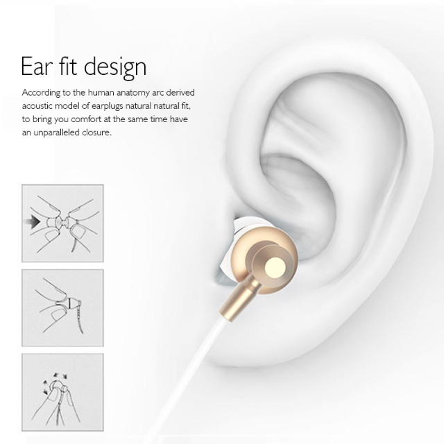 With Microphone fone  Airpods Earpods Langsdom  for Phone Headset Metal Phone Earphones