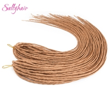 Sallyhair 20 inch 12 Strands Handmade Dreadlocks Hair Extensions Synthetic Croch