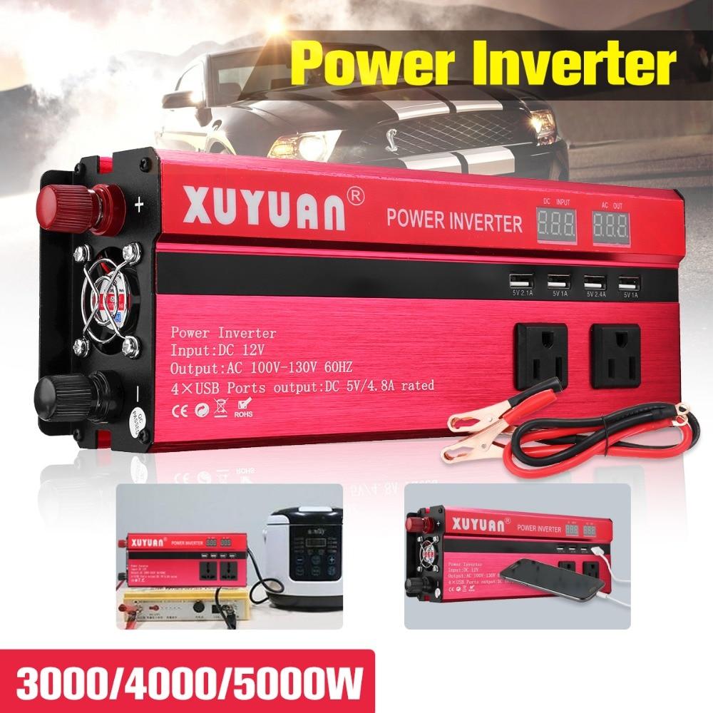 24V 220V DC-AC Car Inverter Converter 5000W Solar Sine Wave Power Inverter Transformer Automobiles Universal Vehicle PowerSwitch