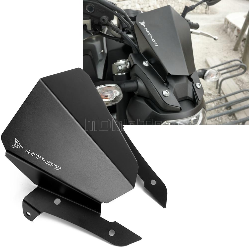Bolts Bracket For Yamaha MT-07 FZ-07 2013-2017 Black Windshield WindScreen