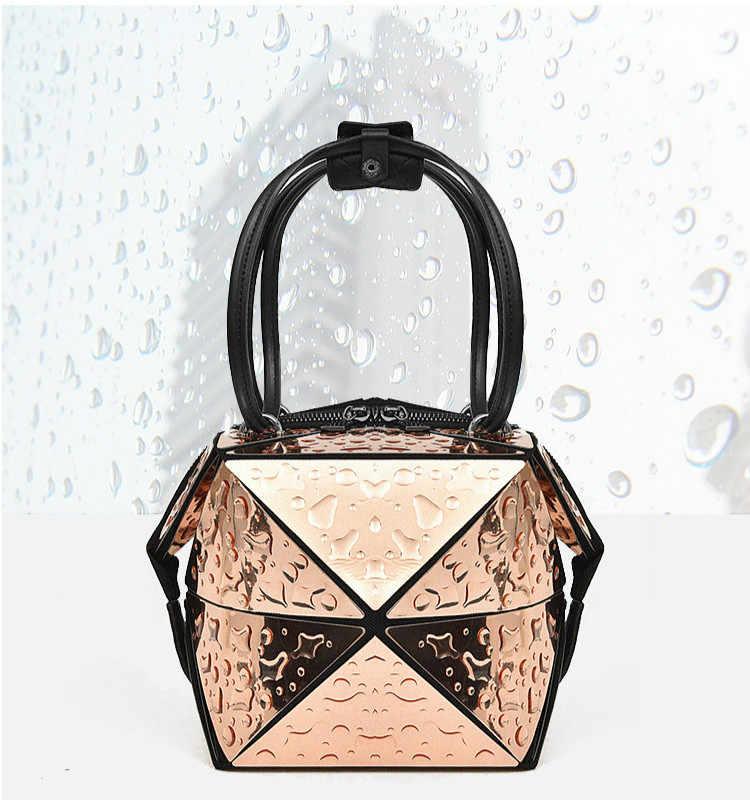 968d8c8b59d9 ... Fashion Laser Women Shoulder Bag Can Change Shape Lingge Chain Handbag  Women s Leisure Shopping ...
