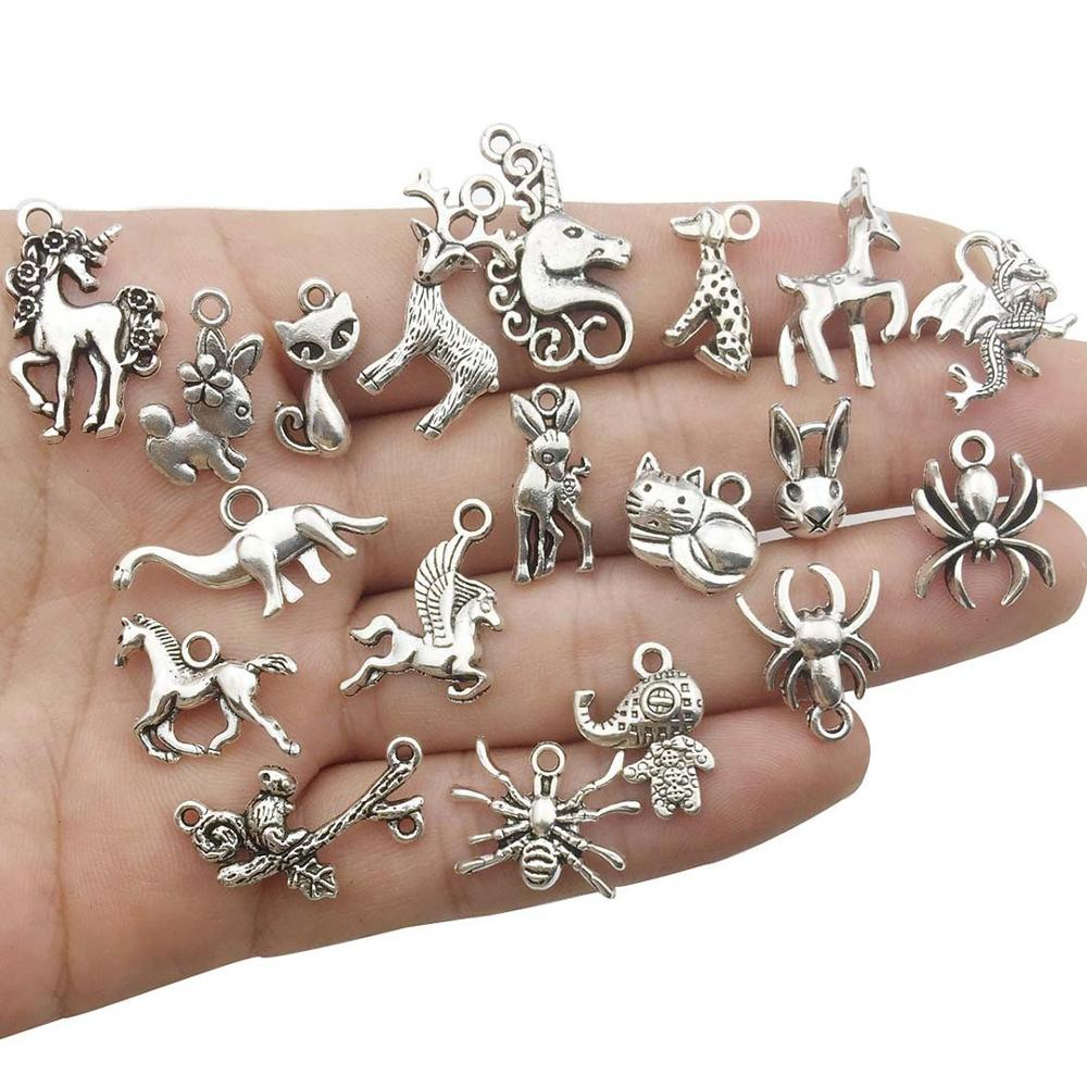 Vintage Mixed 10 20pcs Metal Animal Fishstar Charms Beads DIY for Bracelet Clips Handmade Pendant Neacklace Jewelry Findings in Jewelry Findings Components from Jewelry Accessories