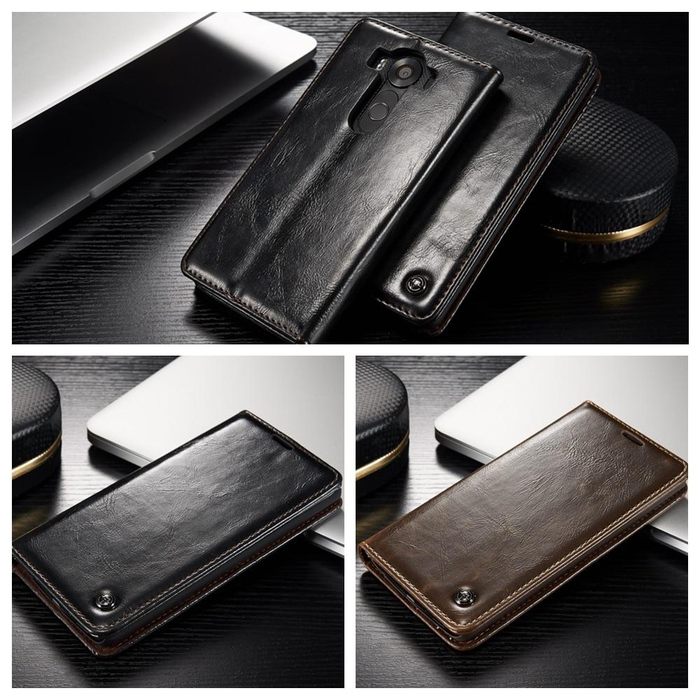 ღ ღCaseMe Luxus Öl Wachs Flip-telefon Fall Abdeckung Für LG V10 ...