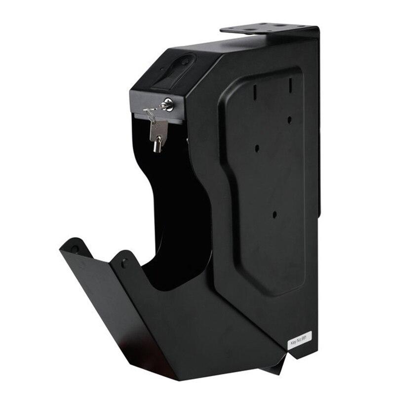Image 3 - Gun Safes Fingerprint Biometric and Spare Key Lock Pistol Safe Box High Quality Steel Security Guns Fingerprint Strongbox-in Safes from Security & Protection