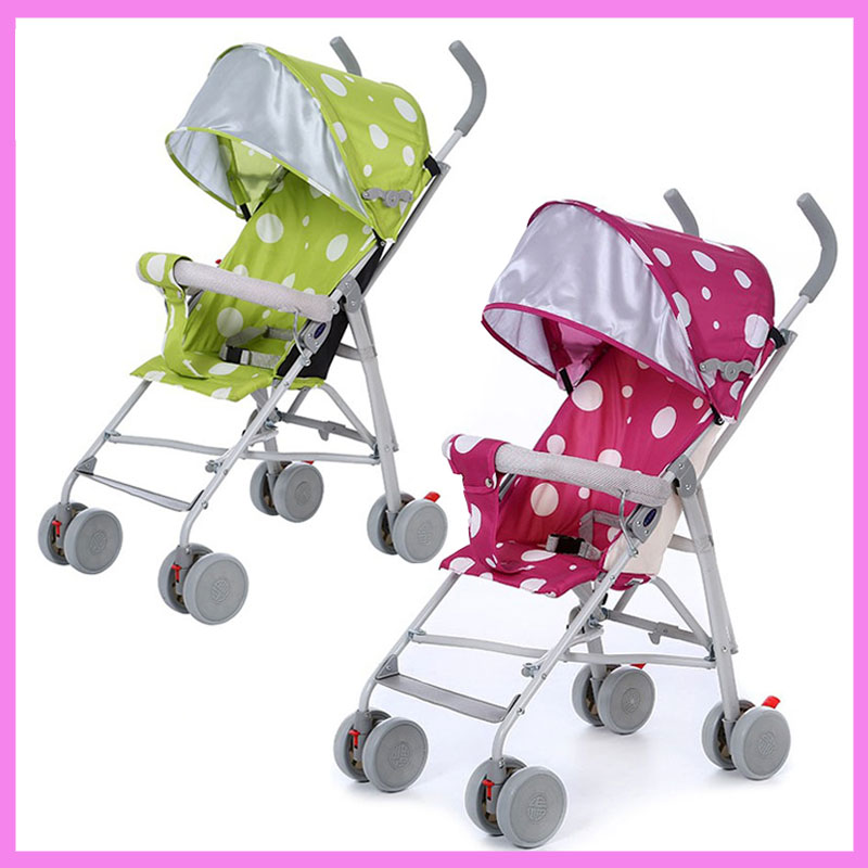 Factory Wholesale Lightweight Car Seat Baby Stroller Carriage Cart Folding Portable Child Travel System Baby Stroller Pram mige stroller baby trolley cart folding baby carriage baby cart can be lying on the baby cart portable cart pram with 3 gift