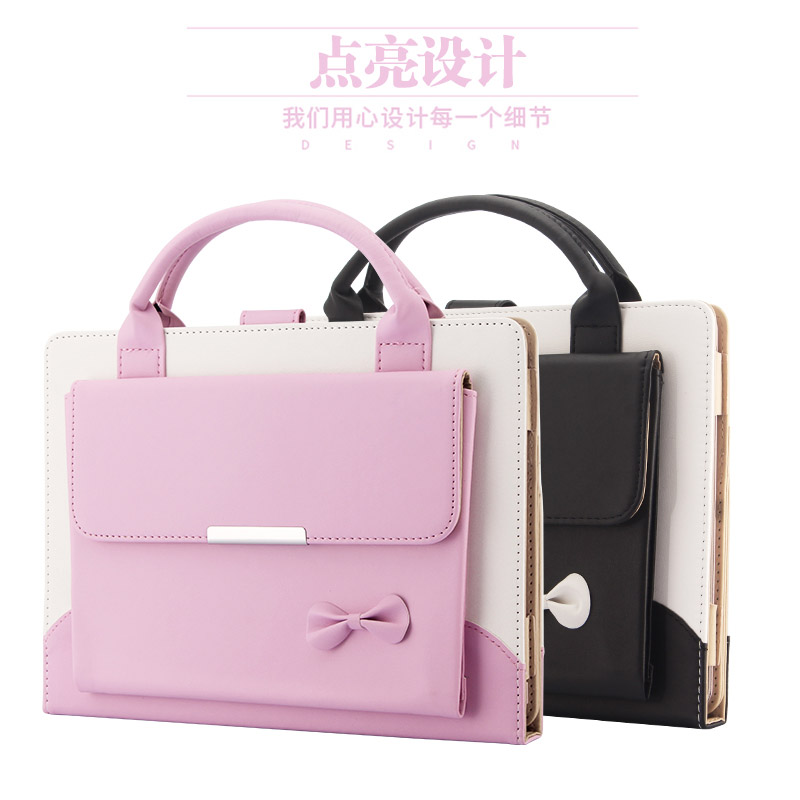купить Case for iPad Air 2 Original Cute Smart Leather Bag Cover Case for iPad Mini 4 Pink&Black Stand Wake&Sleep Luxury Female дешево