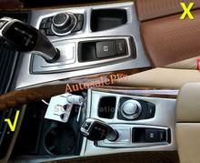 Para BMW X5 E70 2007 2008 2009 2010 2011 2012 2013 Acero inoxidable Interior Panel de Ajuste de La Cubierta de Cambio de Marcha 1 unids VOLANTE a la IZQUIERDA