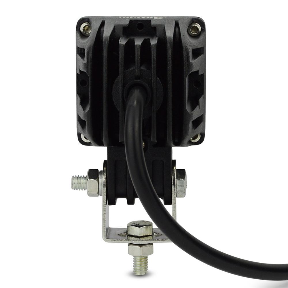 1 개 2 ''LED 10 와트 작업 램프 800LM 스팟 홍수 빔 작업 - 자동차 조명 - 사진 3