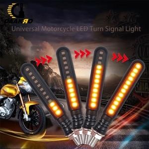 Image 4 - LED Motorcycle Turn Signal Lights Acrylic Single 12 LED Indicator Light Turn Signal DC 12V Yellow Flowing Water OPP Bag