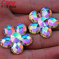 30pcs 30mm AB color Flower shaped resin rhinestones crystal flatback stones for  Jewelry Crafts Decoration ZZ526