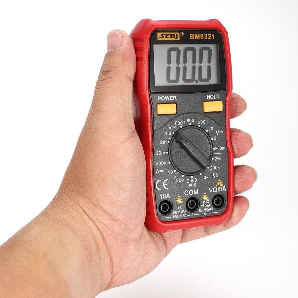BM8321 Digital Multimeter Multimetro Transistor USB Tester Mastech ms8268 esr Meter uni Multimetr t Multimetre Peakmeter rm409b