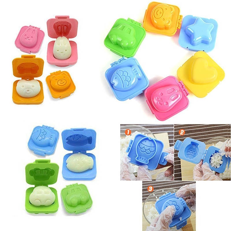 1Pcs Sushi Mold Children Rice And Vegetable Roll Making Tool Cute Cartoon Shape Jelly Mould Baby Kid Food Cooking Tools