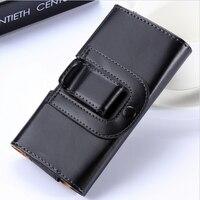 Color negro Suave Estilo Clip de Cinturón Funda Para Sony Z1 Z2 Z3 Z4 5.5