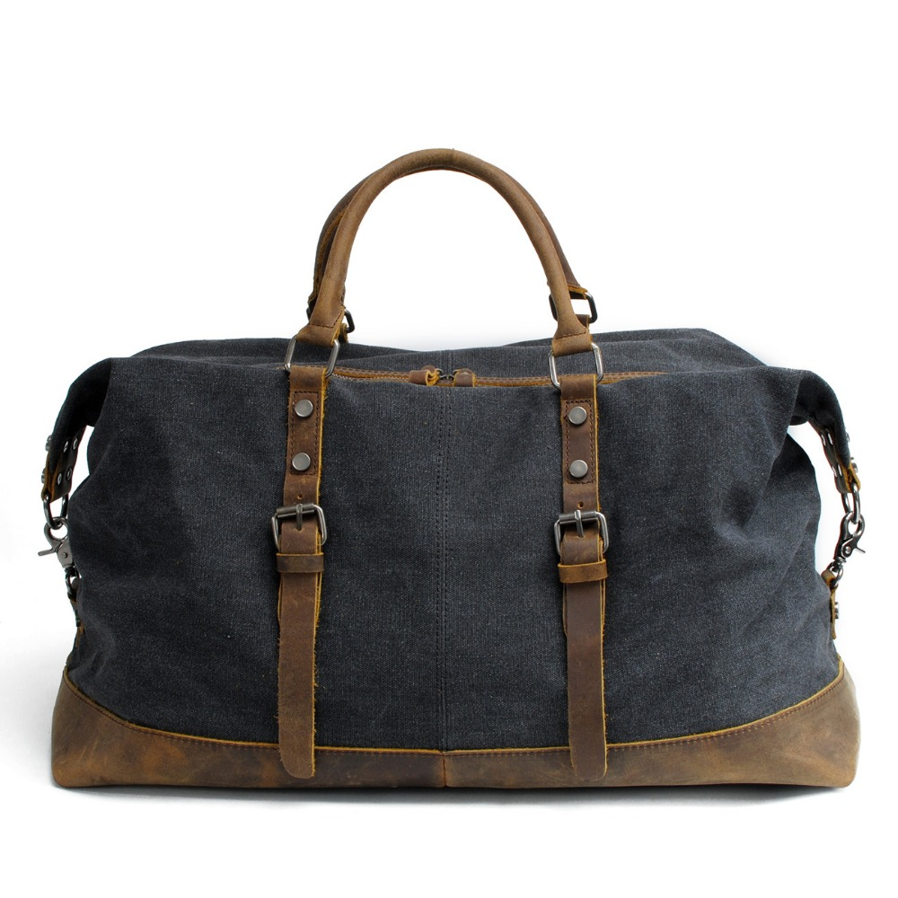Free Shipping,Brand casual men cowhide handbag.leather style travel bag,quality canvas bag,vintage traveling bag,sales.gift