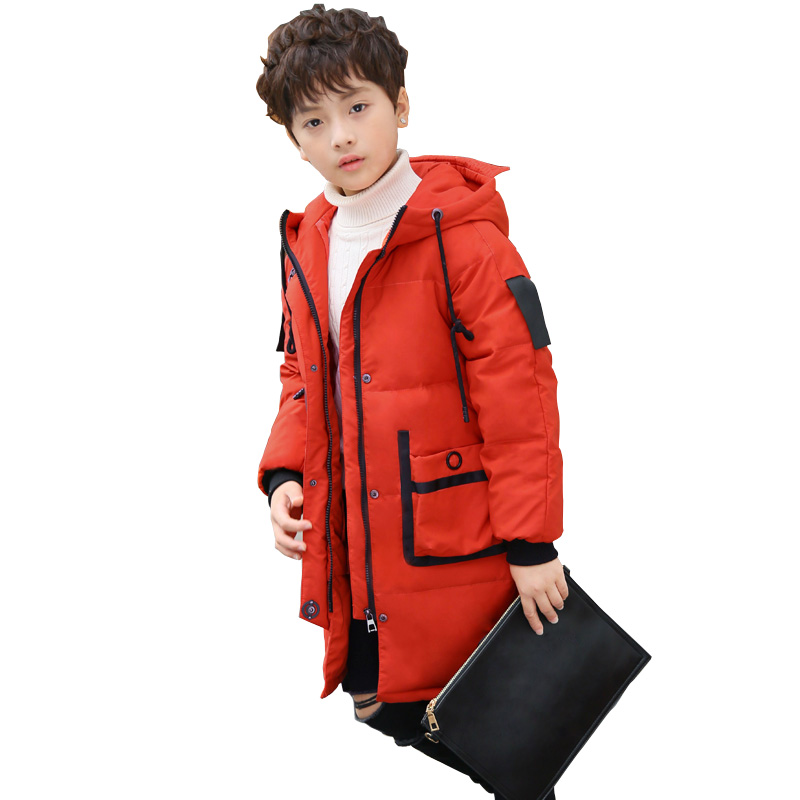2017 New Children Down & Parkas Kids Outerwear Coats Thicken Warm Long Big Boy Winter Jackets and Coat DQ092 korean baby girls parkas 2017 winter children clothing thick outerwear casual coats kids clothes thicken cotton padded warm coat