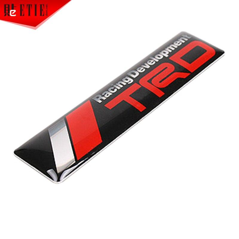 Car Styling TRD Racing Epoxy Sticker D Metal Decal Wrap Badge Car - Racing car decals design