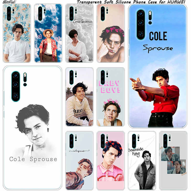 Cole Sprouse Riverdale Soft Silicone Phone Case for Huawei P30 P20 Pro P10 P9 P8 Lite 2017 P Smart Z Plus 2019 NOVA 3 3i Cover