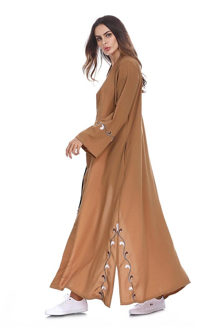 Fashin Muslim Floral Abaya Dress Flowers Loose Cardigan Long Robe Gowns Kimono Jubah Ramadan Arab Thobe Islamic Prayer Clothing