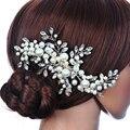 Pelo de la boda Accesorios Para el cabello Clips Romantic Crystal Flor de La Perla Rhinestone Horquilla Tiara Corona Nupcial Pernos de Pelo de Novia Joyería Del Pelo