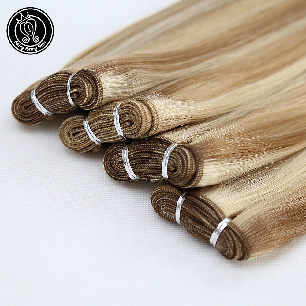 Human Hair Weft Real Remy European Straight Hair Extension Weaves Bundles Highlight Piano Color P8/16/60 16
