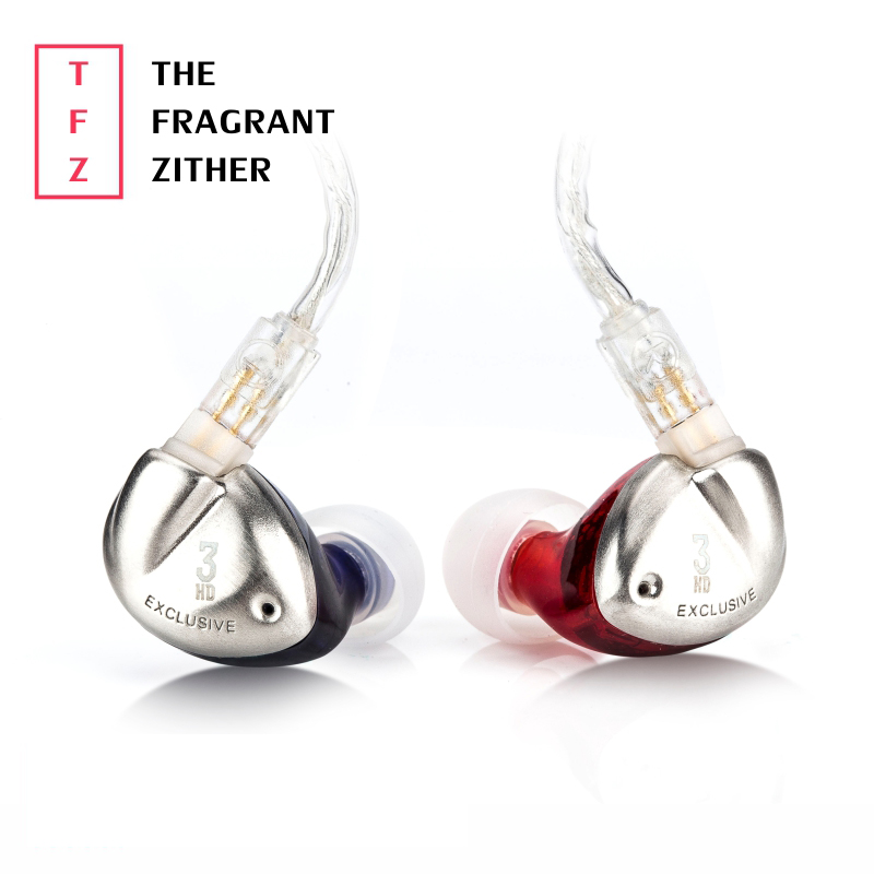 The Fragrant Zither TFZ EXCLUSIVE 3 In Ear Wired Earphone HIFI Earphone DJ Monitor Hedset 9 MM In-ear Earphone original tfz exclusive king hifi monitor