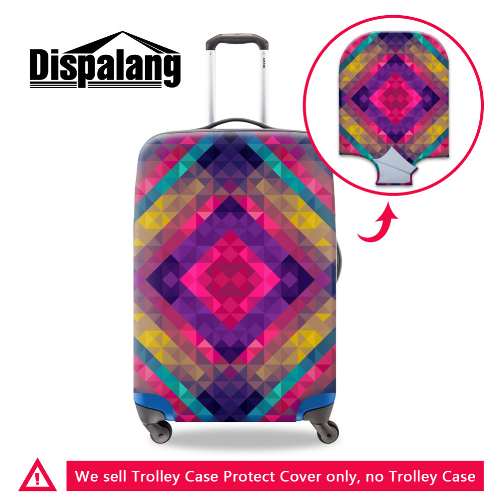Luxury Plaid Print Luggage Protective Cover Apply To 18-30 Inch Travel Case Elastic Stretch Waterproof Dustproof Suitcase Cover