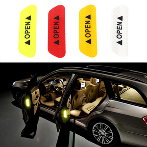 4Pcs Car Door Stickers Warning