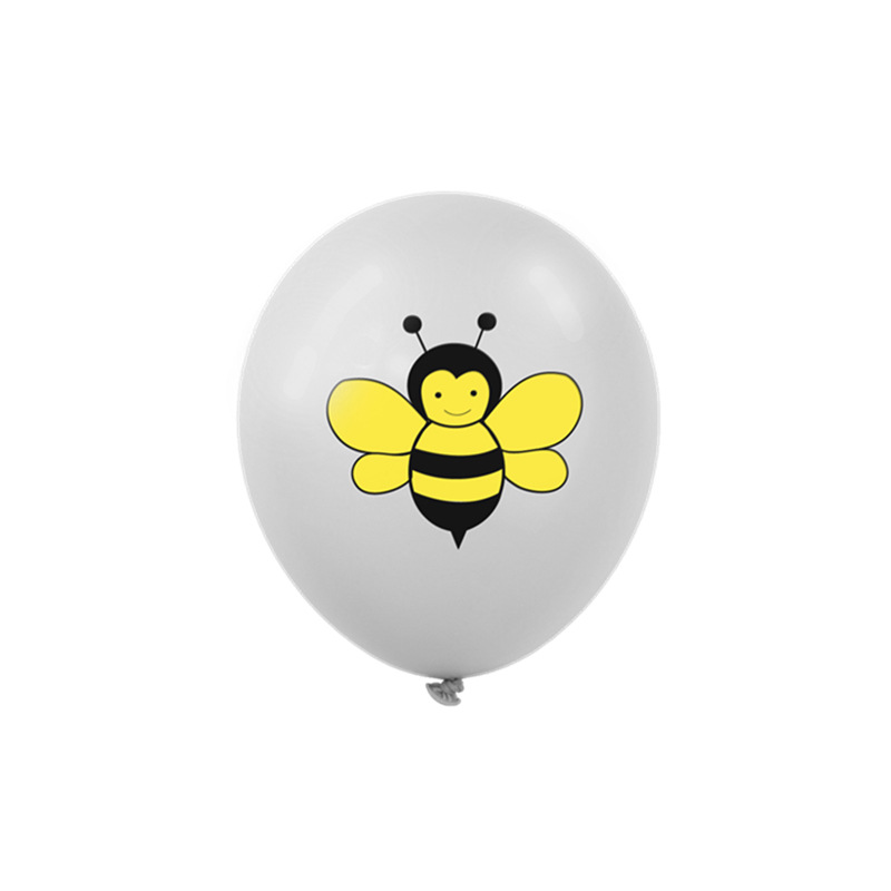10 15 pcs 12 inch Cartoon Bee Dot Printed Latex Balloons Helium Inflatable Balloon Jungle Theme Party Decor Birthday Supplies in Ballons Accessories from Home Garden