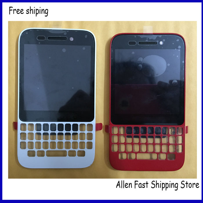 Original Q5 LCD Touch Screen For Blackberry Q5 LCD With Front Housing Frame Bezel LOGO White