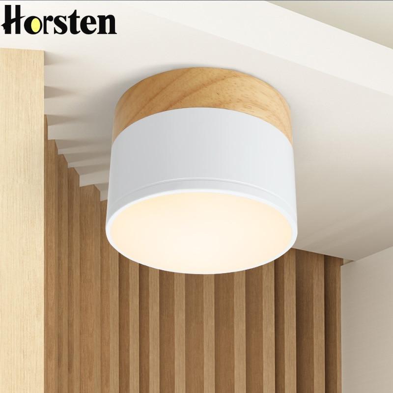 Horsten Nordic Japanese Wood Downlight LED Lights Modern Minimalist 3W 5W LED Down Light For Aisle Living Room Corridor Balcony
