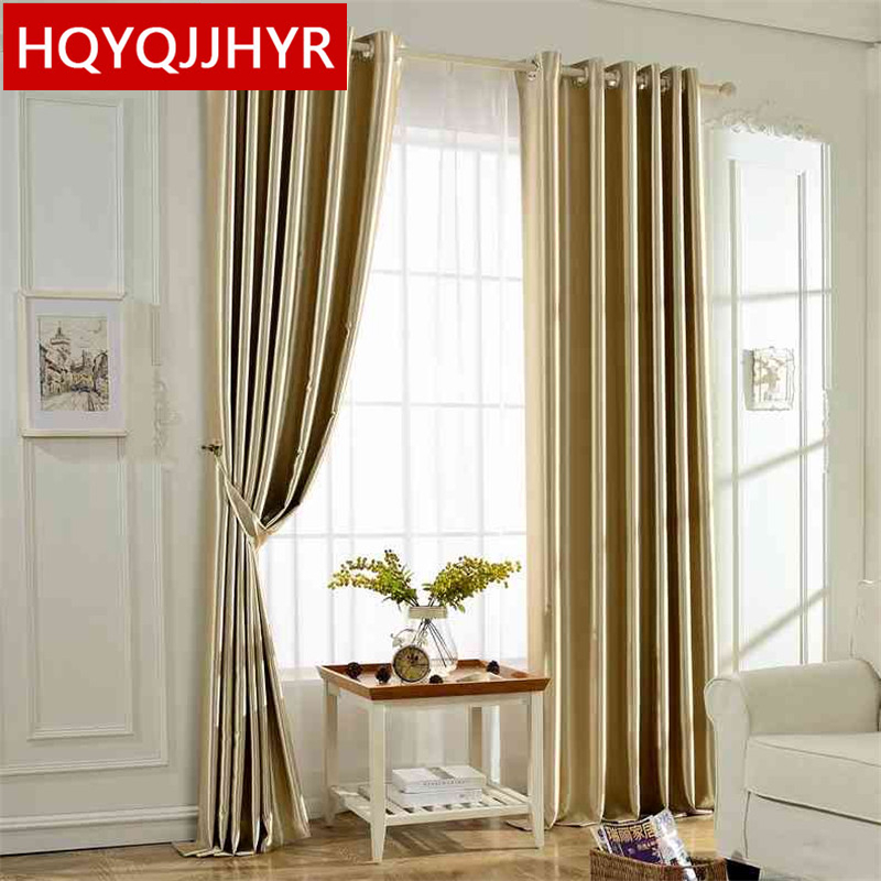 Modern finished bedroom curtains blackout curtains blackout fabric living room thick shade cloth curtain curtains short