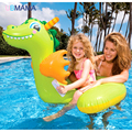 Over 3 Year Old Children High Quality Safety Baby Double Layers Inflatable Swim Seat Floating Ring Giraffe Type