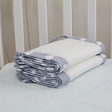 1PC Long Cotton / Polyester Summer Newborn Crib Bumper Safety Crash Barrier Breathable Baby Bedding Bumpers
