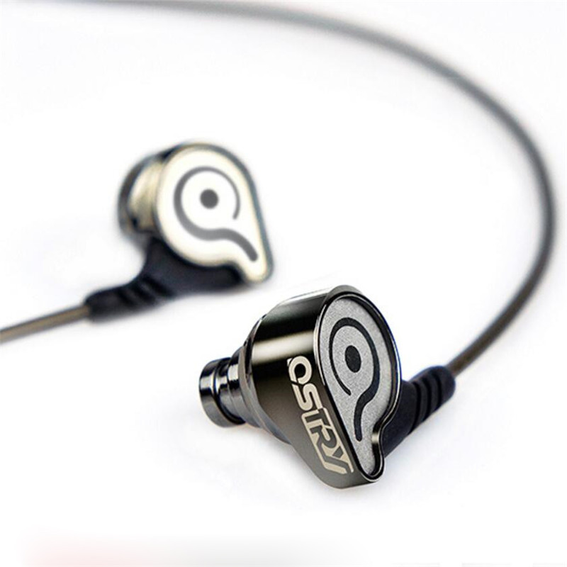 OSTRY KC06 In Ear Headphones Noise Canceling Ear Hook Metal Stereo Earphone Hifi Professional Music Earbuds MP3 Mobile Headset ostry kc06 fashion in ear ear hook earphones silver black 3 5mm plug 1 2m cable