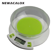 NEWACALOX 11lb x 0.1oz Digital Electronic Scales for Food Die Postal Balance of Kitchen Scale 1g 5kg Cooking Tools Weight Scale