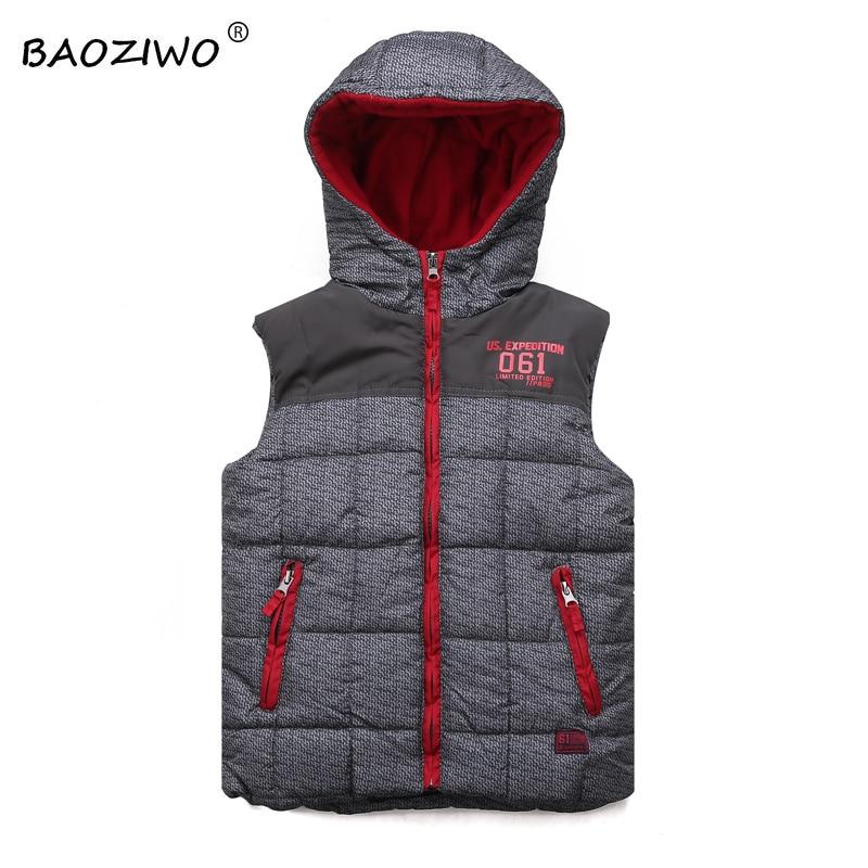 Baoziwo boys vest fleece vest kids children vest boys winter vest boy hooded and pattern with polar fleece linning super style