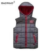 ФОТО baoziwo boys vest fleece vest kids children vest boys winter vest boy hooded and pattern with polar fleece linning super style