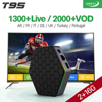 T95Z Plus S912 HD Smart TV Box 2g Ram 1300 IPTV Arabic Channels Subscription 1 Year