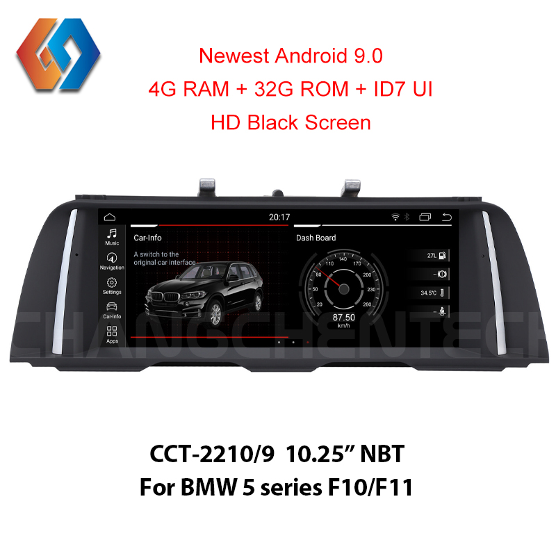 4G Ram Android 9 0 Multimedia Car Radio for BMW 5 Series F10 F11 NBT 1920x720