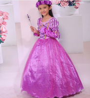 Baby Girls Sophia Purple Dress Children Princess Dresses Kids Party Costume Clothes Girls Ball Gown Dress